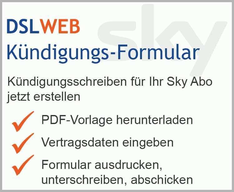 Sky Kündigen Fax