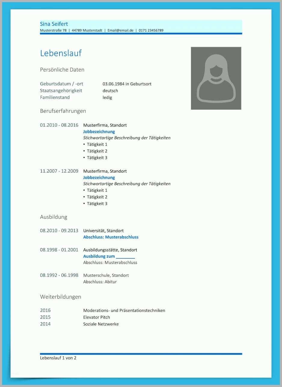 Exklusiv Lebenslauf Vorlage Openoffice Kostenlos Download ...