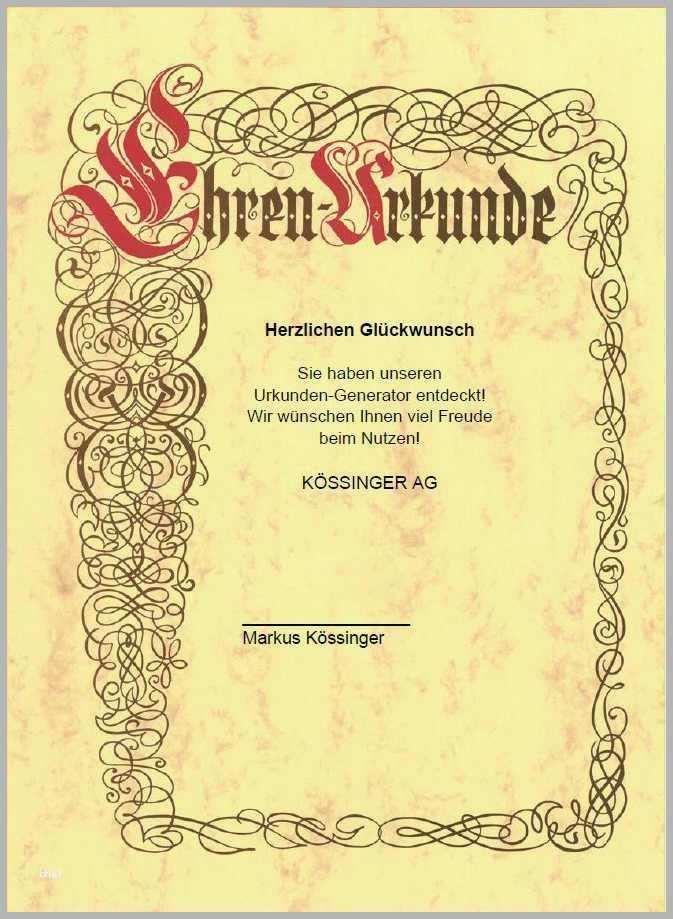 Word Vorlage Urkunde Kostenlos Download