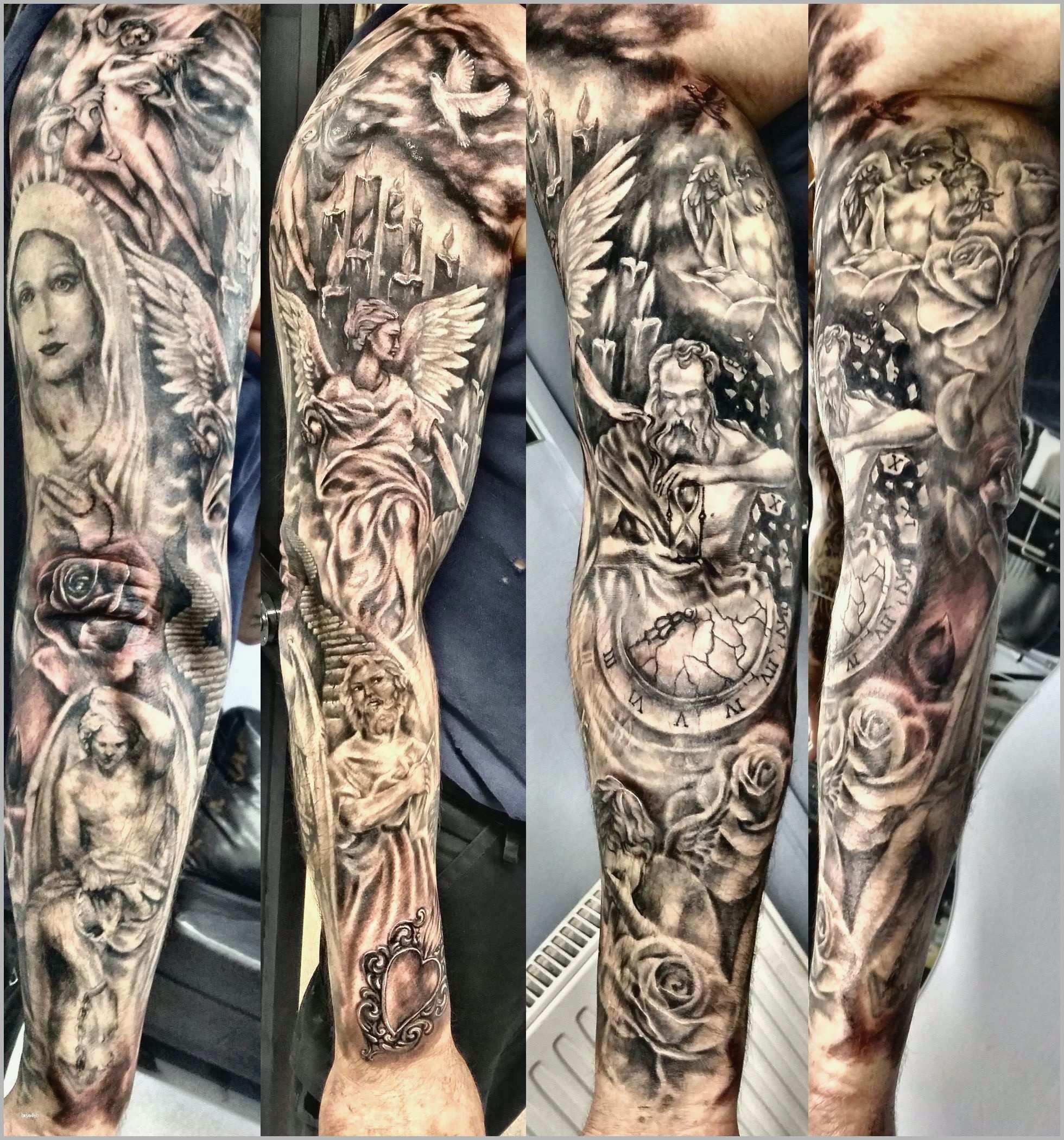 Hervorragen Ganzarm Tattoo Mann Vorlagen Schönste Ganz Arm