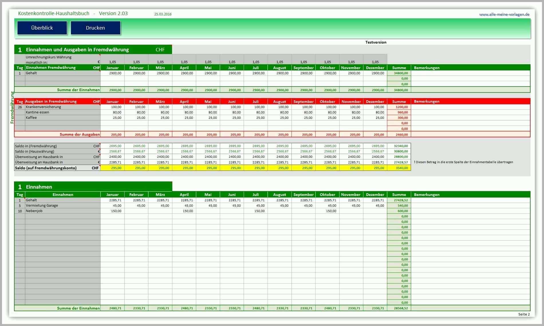 Kreativ Haushaltsplan Excel Vorlage   Bibliothek Kostenlose Vorlagen