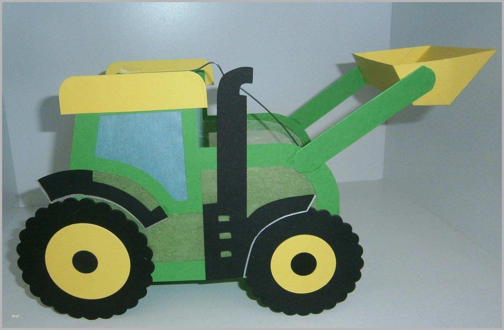 selten laterne traktor john mit schaufel laterne